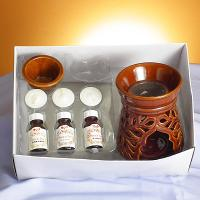 Herb & oil burner set , completed with tealite & fragrance oil